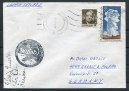 1973 USA Alaska Launch Station Skylab Space Rocket Cover - Signed - Covers & Documents