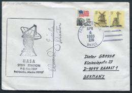 1983 USA Fairbanks Alaska Launch Station Space Rocket Cover - Signed - Covers & Documents