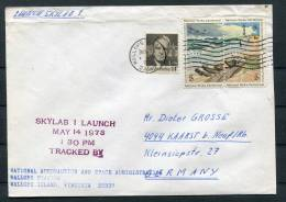 1973 USA Wallops Skylab Space Rocket Cover - Covers & Documents