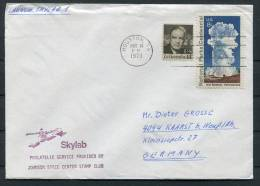 1973 USA Houston Skylab Space Rocket Cover - Covers & Documents