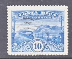 Costa Rica  Telegraph  T 6a  Perf  14  (o)  TRAIN - Costa Rica