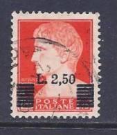 Italy, Scott # 460 Used Augustus Caesar, Surharged, 1945 - 5. 1944-46 Lieutenance & Umberto II