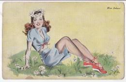 Miss Behave Us Pin-Up Meet The Misses Series 2 Vintage Original Postcard Cpa Ak (W3_1503) - Pin-Ups