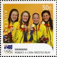 2008. AUSTRALIAN DECIMAL. Olympic Games (Summer Olympics) 50c Australian Gold Medallists - Women´s 4 X 200M Freestyle FU - 2000-09 Elizabeth II