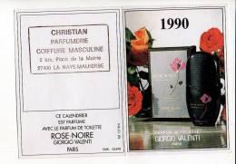 1990 Calendrier De Poche Parfum Giorgio Valenti Thème : Santé,métiers,Christian Parfumerie Coiffure La Haye Malherbe - Tamaño Pequeño : 1981-90