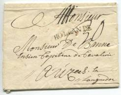 HOLLANDE/lettre Pour Le Languedoc (azile?) - 1701-1800: Vorläufer XVIII