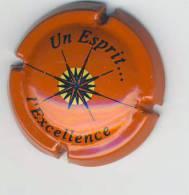"""Plaque De Muselet  """" Un Esprit ... L'Excellence""""* - Capsules & Plaques De Muselet"""