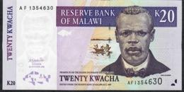 MALAWI   P44a  20  KWACHA    1.10.2001    UNC. - Malawi