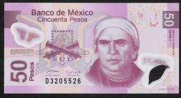 MEXICO  P123f  50  PESOS  28.4.2008 Serie J          UNC. - Mexique