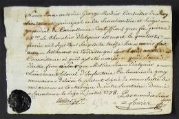 1778 Carcassonne Georges Rodier Conseiller Du Roy Lieutenant Principal Sénéchaussée Certifie Mort Chevalier D´Alquier - Historical Documents