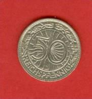 Allemagne - Republique De Weimar - 1938 J -  50 Reichsfenning - Nickel  - KM 49 - 50 Reichspfennig