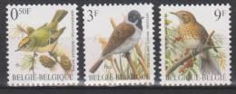 Belgique N° 2424 - 2425 - 2426 *** Oiseaux-Buzin - Roitelet Huppé - Bruant Des Roseaux - Grive Musicienne - 1991 - 1985-.. Oiseaux (Buzin)