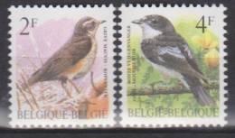 Belgique N° 2653 - 2654 *** Oiseaux-Buzin - Grive Mauvis - Gobe-mouche Noir - 1996 - 1985-.. Oiseaux (Buzin)