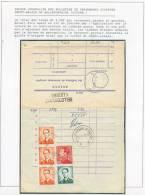 Relevé Journalier Des Bulletins De Versements Acceptés Dans Le Bureau DEPOT-RELAIS De BELLEFONTAINE (LUXEMBOURG) *, Obl. - Taxes