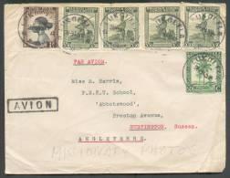 Lettre Affranchie à 15Fr.50 De LUKOLELA Le 28-9-1945 + Griffe AVION Vers Rustington (GB) - 8689 - Congo Belge