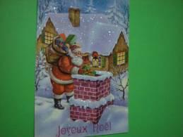 Carte En Relief Et Paillettes - Kerstman