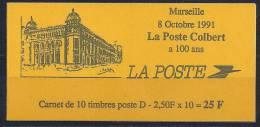France- Carnet 2712-C1 Tirage National La Poste Colbert Marseille - Usage Courant