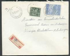 Affranchissement Industrie Obl. Sc Relais De PUTTE (KAPELLEN.) * En Recommandé Le 8-11-1949 Vers Anvers - 8708 - Postmarks With Stars