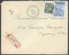 Affranchissement Industrie Obl. Sc Relais De ZOERSEL * En Recommandé Le 24-XII-1949 Vers Anvers - 8711 - Postmark Collection