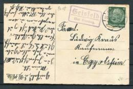 1936 Germany Bamberg Landpostempel Postkarte - Briefe U. Dokumente
