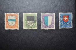 1922, Zumstein Nos 21 à 24 Oblitérés (avec Charnières) - Pro Juventute