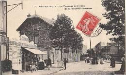 95 ARGENTEUIL  ( Pas Sur Delcampe ) Ligne Chemin De Fer Passage à Niveau CAPRONNIER Marchand Cartes Postales 1908 - Argenteuil
