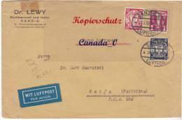 BG  1  --  -- Luipo -   Brief  Mi.# 255 MiF  V.DANZIG N. Haifa / Palästina   24.5.1938 - Occupation 1938-45