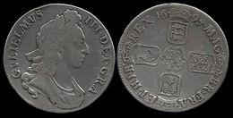 GRANDE BRETAGNE . GUILLAUME III . 1 CROWN . 1695 . - 1662-1816 : Anciennes Frappes Fin XVII° - Début XIX° S.