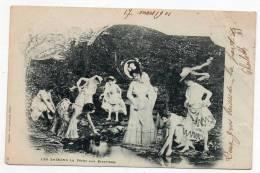 Cpa Pionnière - Les Saisons La Pêche Aux écrevisses - 1901 - (Femmes) - Femmes