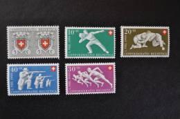1950, Zumstein Nos 46 à 50 ** - Pro Patria
