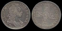 GRANDE - BRETAGNE . GUILLAUME III . 1 CROWN . 1695 . - 1662-1816 : Anciennes Frappes Fin XVII° - Début XIX° S.