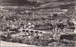 Cpsm Pont à Mousson, Vue Générale Aérienne - Pont A Mousson