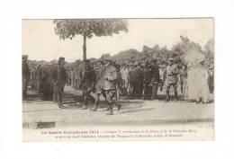 CPA :Georges V Avec La Reine Et La Princesse Marie Et Lord Kitchener Inspecte Troupes Nouvelle Armée Stanhope - Guerre 1914-18