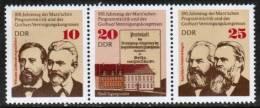 GERMAN DEMOCRATIC REPUBLIC    Scott #  1650-52a**  VF  MINT NH Strip Of 3 - [6] Democratic Republic