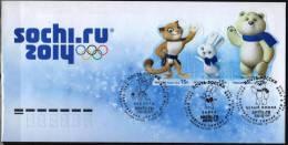 Russia 2012   FDC JO 2014 A Sotchy Les Talismans Sochi  2014 Olympic Games - Inverno 2014: Sotchi
