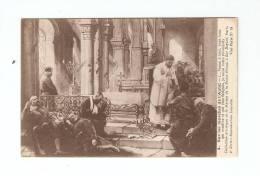 """CPA :Guerre 14/18 : Dessin """"Sur Les Marches De L´Autel """": Prêtre Aidant Des Blessés Dans Une Eglise - Guerre 1914-18"""