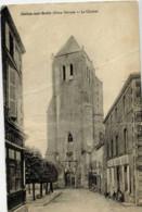 79-CELLES-Sur-BELLE-Le Clocher-Hôtel Du Chêne Vert-en L´état - Celles-sur-Belle