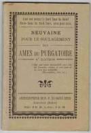 """IMAGE PIEUSE LIVRET 72 Pages  """"Neuvaine Pour Le Soulagement Des Âmes Du Purgatoire Archiconfrérie Notre Dame Sacré Coeur - Andachtsbilder"""