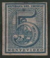 URUGUAY 1866 - Yvert #30a B - MLH * - Uruguay