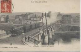 épernay Pont Avec Train Et Locomotive - Epernay