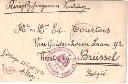 Allemagne Camp De Prisonnier Göttingen 1917 (prisonnier Belge) N° 15 - Guerre 1914-18
