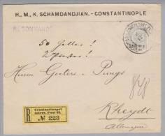 Österreich Levante 1907-12-06 B-Brief Von Constantinopel Nach Rheydt DE - Levant Autrichien