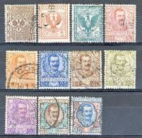 Regno VE3, 1901, Floreale, Sassone Serie 10 N. 68-78 Usati  Cat. € 60 - 1900-44 Vittorio Emanuele III