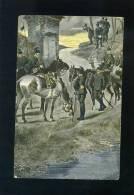V1767 CARTOLINA REGGIMENTALE CAVALLERIA IN RICOGNIZIONE FP. V. - Reggimenti