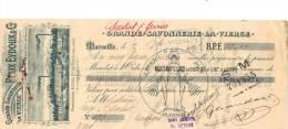 Lettre Change 193 - 1907 - FELIX EYDOUX  Grande Savonnerie LA VIERGE Marseille Pour Sarlat Dordogne - Cachet  Fiscal - Lettres De Change