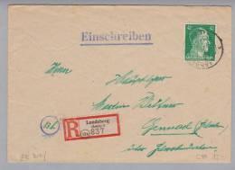 Heimat DE Bay Landsberg (Lech) 1944-12-20 R-Brief Nach Schwabmünchen - Allemagne