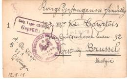 Allemagne Camp De Prisonnier 1917  Militaire Belge  Faisant Partie D´une Série De Document De 1902 à 1919 à Sa Démo N° 5 - Guerre 1914-18