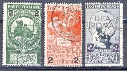 Regno 1913 Serie 16, N. 99-101 Usati Cat. € 25 - 1900-44 Vittorio Emanuele III