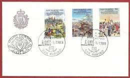 San Marino 1989 - FDC Azienda Autonoma Di Stato Rivoluzione Francese - FDC