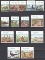 ZAMBIA 1975 TIERE FAUNE WILDLIFE ANIMALI MNH NEUFS ** ANI - Briefmarken